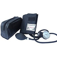Santamedical Adult Deluxe Aneroid Sphygmomanometer - Professional Blood Pressure Monitor with...