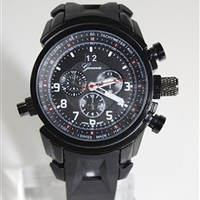 Black Oakley Inspired Watch