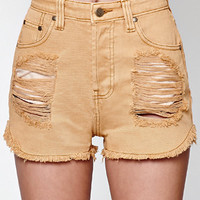 MinkPink Beach Bum Ripped High Rise Cutoff Denim Shorts at PacSun.com