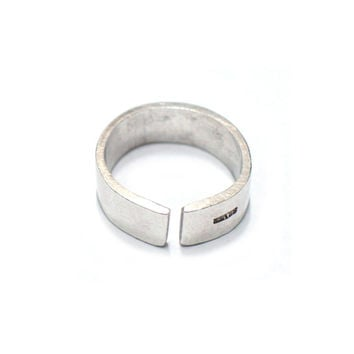 Handmade Simple Silver Thumb Ring