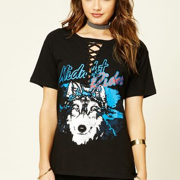 Midnight Rider Lace-Up Tee