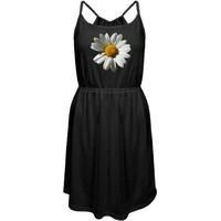 Sunflower Photo Dress: Custom Junior Fit District Strappy Dress - Customized Girl