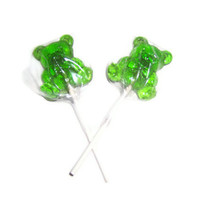 16 Teddy Bear Lollipops - You Pick Flavor and Color