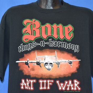 90s Bone Thugs-N-Harmony Art of War Tour 1997 t-shirt Large