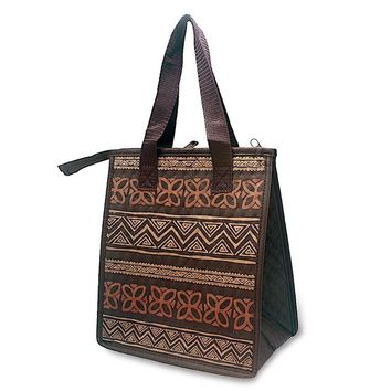 """Tapa Brown"" Insulated Cooler Bag, Small"