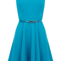 Oasis Sing the Blues | Rich Blue Mia Fit and Flare Dress | Womens Fashion Clothing | Oasis Stores UK