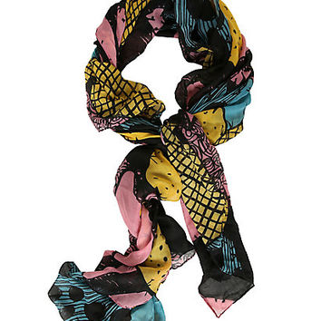 The Nightmare Before Christmas Patchwork Scarf