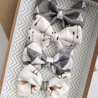 Bow or Headband Set- Tribal, Arrow and Teepee Set