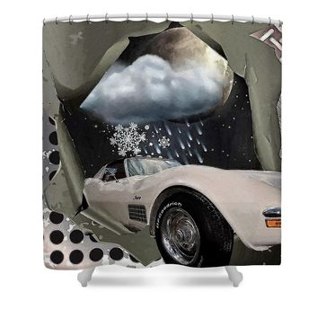 Steel frame Stingray Shower Curtain