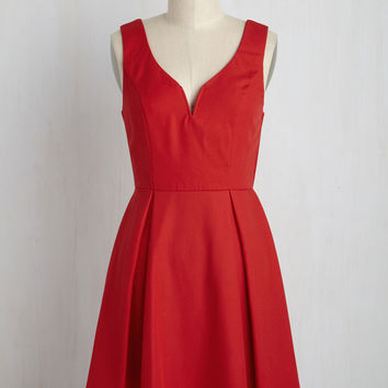 Beyond Your Wildflower Dreams A-Line Dress in Poppy | Mod Retro Vintage Dresses | ModCloth.com