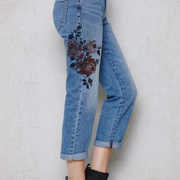 PacSun Willie Floral Print Mom Jeans at PacSun.com
