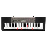 Casio 61 Piano Style Key Lighted Keyboard Includes Sound EFX Sampler, Stand, and Adapter - Black (LK175) : Target