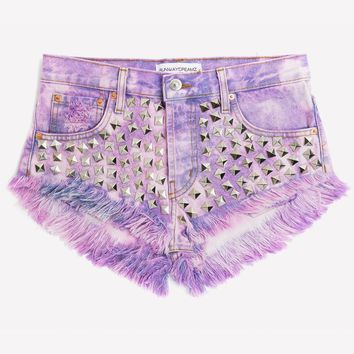 Wunderlust Love Clouds Studded Babe Shorts