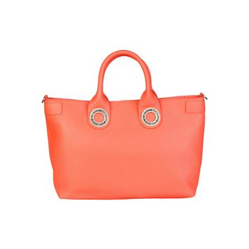 Versace Jeans Orange Leather Handbag