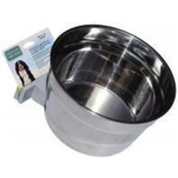 Lixit Corporation - Stainless Steel Cage Crock Bowl With Bracket