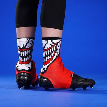 The Grin Red Spats / Cleat Covers