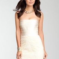 bebe Strapless Banded Top Dress