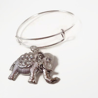 Elephant Bracelet, Elephant Jewelry, Good Luck Jewelry, Luck Jewelry, Elephant Gifts,  Alex and Ani Expandable Bracelet