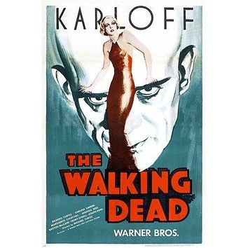 BORIS KARLOFF the walking dead CLASSIC MOVIE POSTER horror 24X36 RARE hot