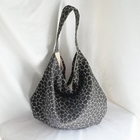 Black Medium Hobo bag  Animal Print hobo bag   READY TO by ACAmour