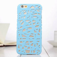 Blue Candy Color Hollow Out Bird's Nest Phone Back Cover Case Shell For iPhone 4s 5 5s SE 6 6s