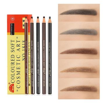 1pcs Or 5pcs Eyebrow/lip Tatoo Pencil Maquiagem Waterproof Brow Stamp Eyebrow Tint Black Grey Brown Eyebrow Pencil For Beauty