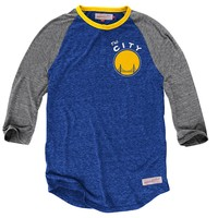 Hustle Play Henley<br>Golden State Warriors - Mitchell & Ness