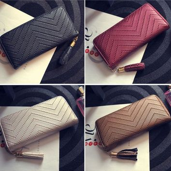 US Lady Women Clutch Long Purse Leather Wallet Card Holder Handbag Phone Bag