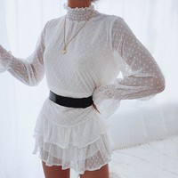 Totally Into You Chiffon White Dress