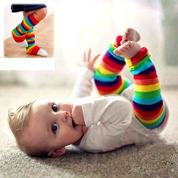 Rainbow Leg Warmers, Rainbow Striped Legwarmers, Boys, Girls, Arm Warmers