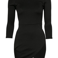 3/4 Asymetric Scuba Dress, Club L