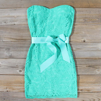 Arizona Lace Dress in Sea