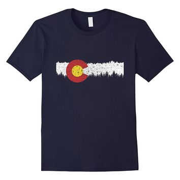 Colorado Flag Moutain Vintage - Colorado Day T-shirt