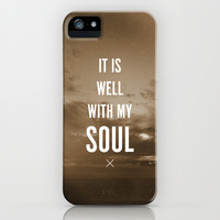 IT IS WELL WITH MY SOUL iPhone & iPod Case by Pocket Fuel