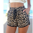 Leopard Shorts with Ribbon Belt Lace