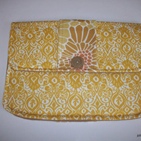 Modern Golden Ikat Clutch Charmante Padded Tablet Cover