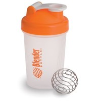 BlenderBottle Classic Shaker Bottle, 20-ounce, Clear/Orange