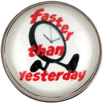 Snap Charm Runners Faster Than Yesterday 20mm