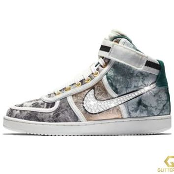 Nike Vandal High LX + Crystals -Oil Grey/Rainforest