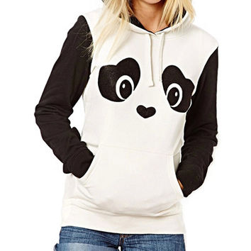 Black And White Panda Sweat Shirt Hoodie