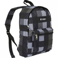 Everest Charcoal Gray Plaid Youth Backpack Bag