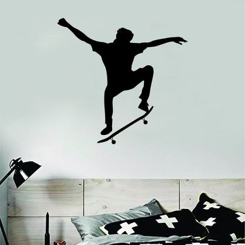 Skater V3 Wall Decal Decor Sticker Vinyl Art Bedroom Room Teen Sports Skating Skating Skate Skateboard Kids Boys