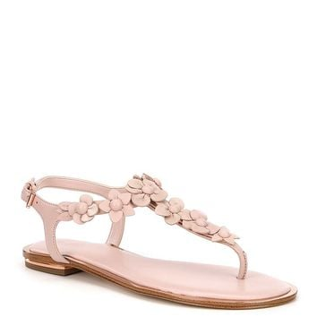 MICHAEL Michael Kors Tricia Floral Applique Thong Sandals | Dillards