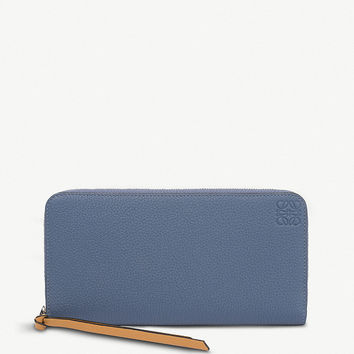 LOEWE Grained-leather zipper-around wallet