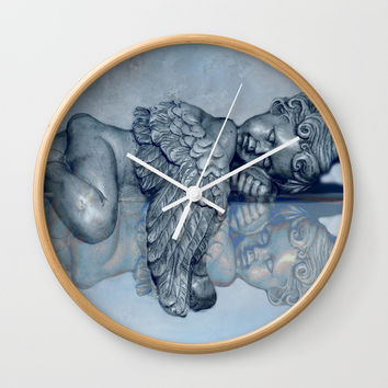 Sleeping Angel Wall Clock by Theresa Campbell D'August Art