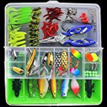 LumiParty 100 Pcs/Set Winter Sport Lure Fishing Accessories Fishing Hooks Connector Ring Line Holder Lure Keeper Beads Tackle Bo