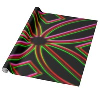 Neon wrapping paper