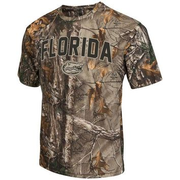 LMFON NCAA Florida Gators Brow Tine Realtree T-Shirt