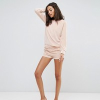 Lazy Days Oversized Velour Sweatshirt and Pajama Short at asos.com