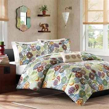 Tamil Polyester Peach Skin Printed Duvet Set - Bedding | Mi Zone